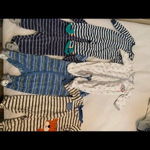 Lot of terry cloth bodysuits 3-6m size